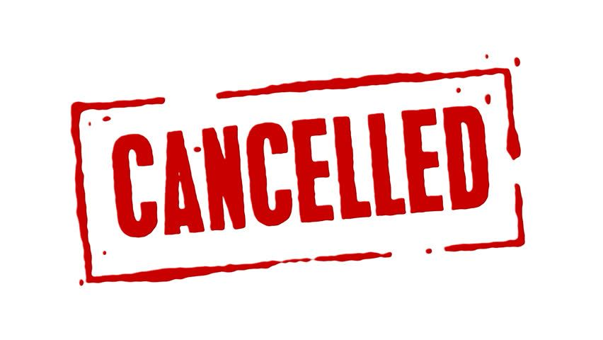 Weekend Event Cancellations