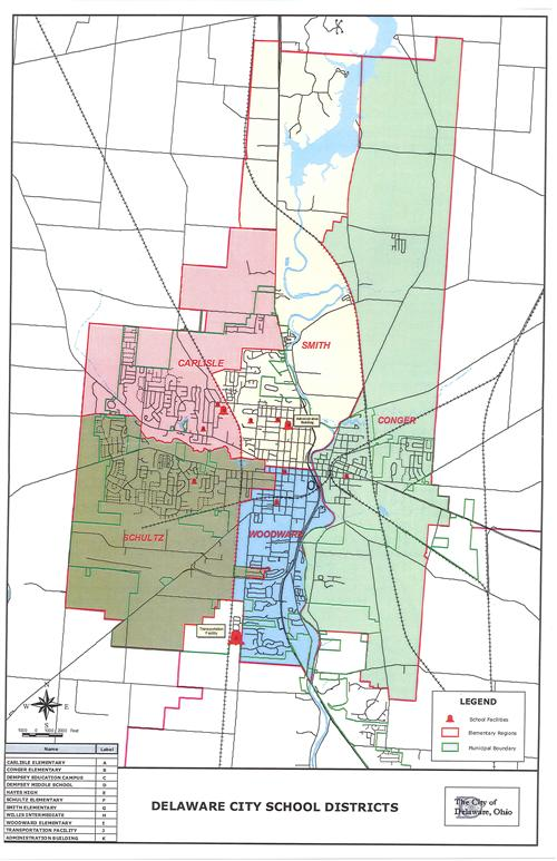 District Map / Elementary Attendance Area Map on