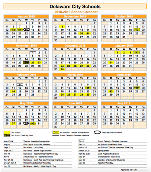 2018 19 calendar image