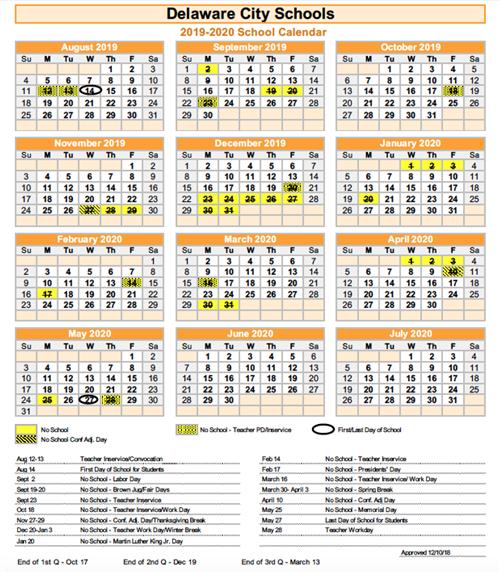 Traditional Calendar 2020 2019 2020 School Calendar / 2019 2020 School Calendar